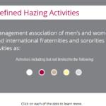 Hazing interaction slide