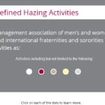 Hazing interaction slide